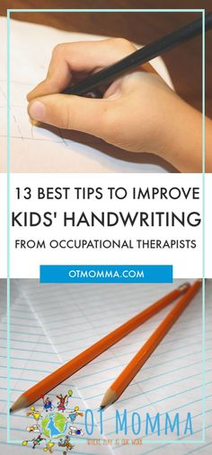 Can't read your kids' messy handwriting? Here are 13 of the best tips to improve kids handwriting from occupational therapists.