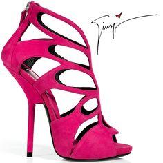 giuseppe zanotti   Giuseppe Zanotti Pink Suede Cut-Out Sandal - Buy Online - Designer ...