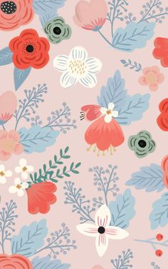 Create a bright and trendy atmosphere in your child's nursery or playroom with our Jasmine Floral Wall Mural. Make a statement with this bold wall art. Iphone Background Wallpaper, Aesthetic Iphone Wallpaper, Flower Wallpaper, Pattern Wallpaper, Aesthetic Wallpapers, Floral Wallpaper Iphone, Floral Wallpapers, Galaxy Wallpaper, Disney Wallpaper