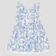 Toddler Girls' Beauty And The Beast A Line Dress - Allure Blue : Target