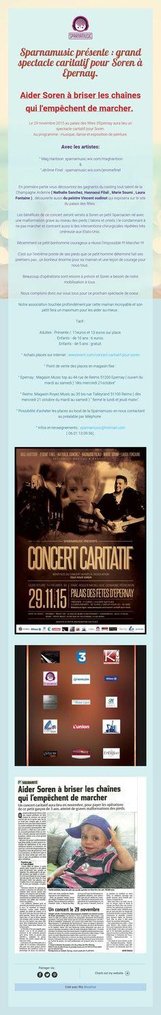 Sparnamusic présente : grand spectaclecaritatif pour Soren à Epernay.