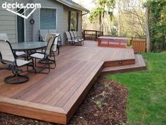 deck: large and flat