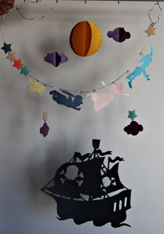 Peter Pan mobile 3D paper mobile Baby by SmilingWillowAtelier, $68.00