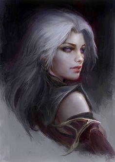 f Rogue Thief Leather Armor Cloak portrait female urban City Night undercity lg Fantasy Women, Fantasy Rpg, Dark Fantasy Art, Fantasy Girl, Dnd Characters, Fantasy Characters, Female Characters, Game Of Thrones Characters, Fictional Characters