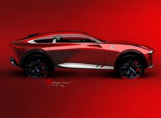 Alfa Sport-Utility-Coupe for the . Offer a sports crossover from Alfa . Jaguar Xk, Jaguar E Type, Car Design Sketch, Car Sketch, Automotive Group, Automotive Design, Jaguar Accessories, Automobile, Luxury Suv