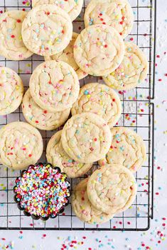 Cloudy Kitchen by Erin Clarkson. A range of sweet and savoury recipes, from baking to weeknight meals. Funfetti Cookies, Sprinkle Cookies, No Sugar Cookies, Rainbow Sugar Cookies, Tasty Cookies, Cookie Cakes, Drop Cookies, Cookie Favors, Heart Cookies