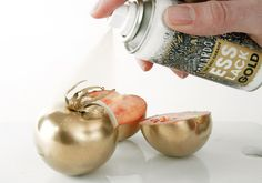 The Deli Garage Food Cooperative, based in Germany, has developed an edible spray paint for those times when, you know, your tomato needs some serious BLING