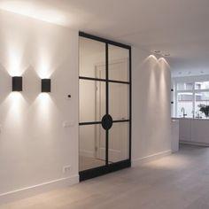 Black and white entrance Interior Design Living Room, Interior Decorating, Contemporary Interior Design, Deco Design, Interiores Design, Interior Inspiration, Interior And Exterior, Home Accessories, Wall Lights