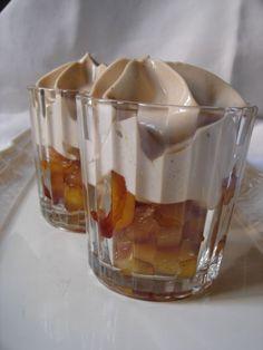 verrines aux pommes tatin, espuma aux carambars