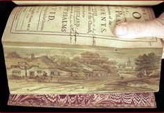fore-edge painting on antique book