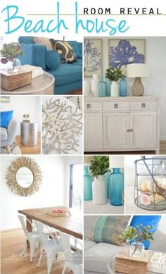 Beautiful beach house room reveal by A house full of sunshine for Practically Functional!