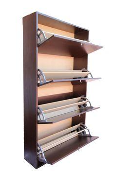 Shoe storage ideas Super Creative shoe cabinet design ideas that will impress you THINGS TO KNOW ABO Wall Shoe Rack, Diy Shoe Rack, Shoe Shelves, Shoe Racks, Shoe Cupboard, Shoe Storage Cabinet, Shoe Cabinet Design, Home Furniture, Furniture Design