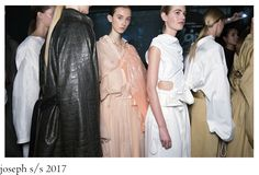 Scene setting: An industrial estate just south of London's Lambeth Bridge offered a rough-around-the-edges setting for Louise Trotter's S/S 2017 collection that set out to dress the urban nomad. Joseph, Women Wear, Sari, Urban, London, How To Wear, Collection, Dresses, Fashion