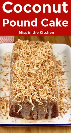 Coconut Pound Cake is a quick and easy dessert that you can make any day of the week. It's flavorful and delicious enough for celebrations and holidays too. Easy To Make Desserts, Great Desserts, Best Dessert Recipes, Delicious Desserts, Yummy Food, Tasty, Best Soup Recipes, Homemade Cake Recipes, Baking Recipes