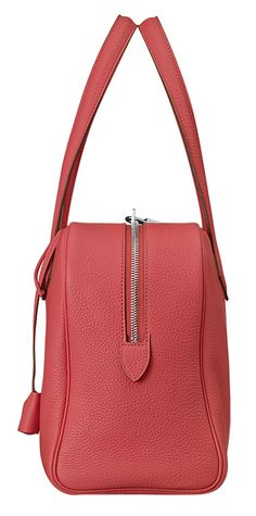 Hermes - Victoria handbag in Jaipur pink leather.