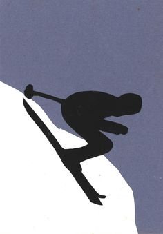Winter Olympic Games - silhouette of a photo from the newspaper Winter Olympic Games, Winter Games, Winter Olympics, Toddler Art Projects, Toddler Crafts, Crafts Toddlers, Olympic Crafts, Olympic Idea, Sport Craft