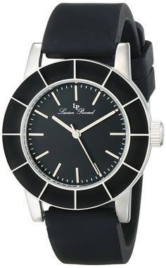 Lucien Piccard Women's LP-12926-01 Burgos Analog Display Japanese Quartz Black Watch * For more information, visit image link. Lucien Piccard, Women Brands, Stainless Steel Case, Cool Watches, Omega Watch, Lp, Quartz, Display, Crystals