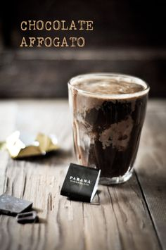 Double Chocolate Ice Cream and staying awake with Chocolate Affogato~