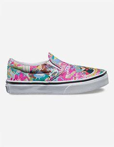 VANS Disney Alice Classic Girls Slip-On Shoes