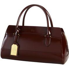 Lauren by Ralph Lauren Dorian Satchel Handbag, Oxblood ($530) ❤ liked on Polyvore