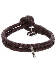 BOTTEGA VENETA  DETAILS:woven leather bracelet