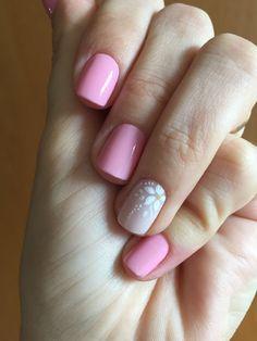Pink Nail Colors, Pink Nails, Stylish Nails, Trendy Nails, Love Nails, My Nails, Nail Manicure, Simple Nails, Nails Inspiration