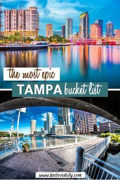 Vacation Places In Usa, Family Vacation Destinations, Florida Vacation, Travel Destinations, Vacations, Tampa Florida, Florida Beaches, Busch Gardens Tampa Bay, Florida Travel Guide