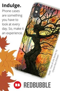 Get this beautiful designer phone case (all types) now at Gifts For Teens, Gifts For Her, Chalk Pencil, Gadgets And Gizmos, Tree Of Life, Dusk, Iphone Case Covers, Cover Design, Mother Nature