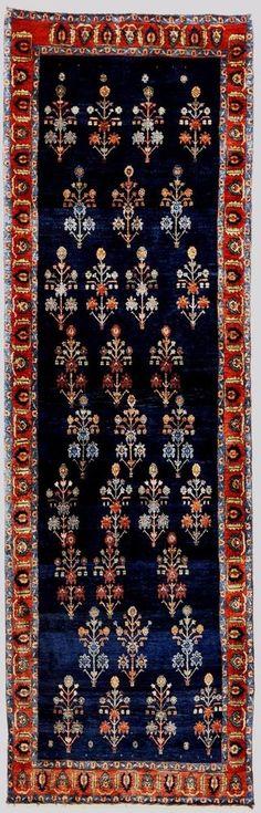 """Hand-knotted Persian runner rug. 2'10""""x 9'7"""" #NasserLuxuryRugs #TraditionalPersianOrientalZiegler"""