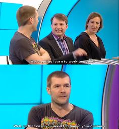 my life is in dire need of more David Mitchell and Rhod Gilbert. And also miranda dont forget miranda Tv Quotes, Funny Quotes, Funny Memes, Jokes, British Humor, British Comedy, Rhod Gilbert, British Things, Funny People