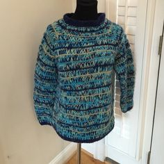 HAND KNIT GORGEOUS SWEATER SZ M GORGEOUS HAND-KNIT SWEATER FITS M/L Sweaters