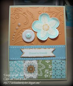Triple Treat Flower card.  Cards and More by Sheri