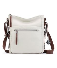 Another great find on #zulily! Stone Sanibel Leather Crossbody Bag #zulilyfinds