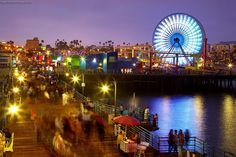 #SMpinspiration Santa Monica - Evening at the pier by PatrickSmithPhotography, via Flickr