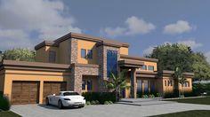 Contemporary Modern House Plan 71535 Elevation