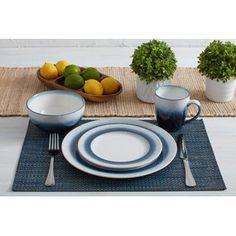 Lorren Home Trends Elizabeth 57 Piece Dinnerware Set, Service for 8 Rustic Dinnerware, Stoneware Dinnerware Sets, Porcelain Dinnerware, Tableware, Cereal Bowls, Salad Plates, Dinner Plates, Kitchen Dining, Dining Room