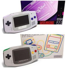 """""""SNES and Super Famicom themed Gameboy Advance coming soon! New Video Games, Video Game Art, Wii U Switch, All Games, Video Game Console, Nintendo Consoles, Game Room, Videos, Geek Stuff"""