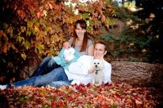 family picture in the fall