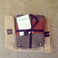 """""""The case for thoughtful packaging: As hoped, people respond to the details on the outside just as much as what's in."""" From the Everlane tumblr"""