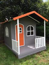 Billie Timber Cubby House, fun bright colours. Kids love cubbies.wwwhideandseekcubbies.com.au