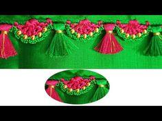 Simple Saree kuchu Designs - YouTube Saree Kuchu New Designs, Saree Tassels Designs, Saree Blouse Neck Designs, Blouse Designs, Simple Sarees, Simple Crochet, Stylish Blouse Design, Beautiful Crochet, Design Tutorials
