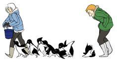 I just watchedMr. Popper's Penguins.