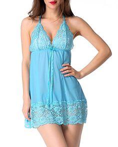 Avidlove Damen Nachtkleid V Ausschnitt Bodydoll Unterwäsche mit G Stringtanga Dessous Erotik Set