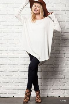 Fresh Take Asymmetrical Tunic Top - White RESTOCKED!