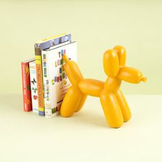 Balloon Animal Bookend (Orange) in Bookends from The Land of Nod fun room decor accessory #popandlolli #pinparty