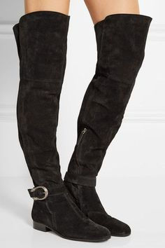Gucci - Dionysus Suede Over-the-knee Boots - Black - IT