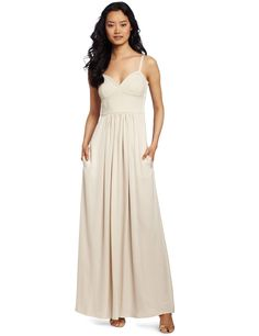 BCBGMAXAZRIA Women's Kyra Cropped Bustier Maxi Dress  where can i find dresses  http://wherecanifinddresses.com