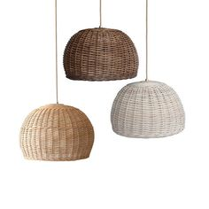 Handmade Rattan pendant light by RevealHome. The light is made of totally natural materials and it is hand-woven. It has a large size and can decorate any place of your home giving a boho rustic touch and a romantic aesthetic. The light makes amazing shadows when it is switched on and
