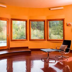 Silo House..(Cob home interior designs are similar to this room).