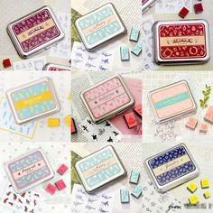 envío gratis, bricolaje lindo nuevo sello de goma conjunto, 9 diseños, paquete de estaño caja de regalo decorativo, bricolaje 80420, al por mayor en Sellos de Escuela y Oficina en AliExpress.com | Alibaba Group